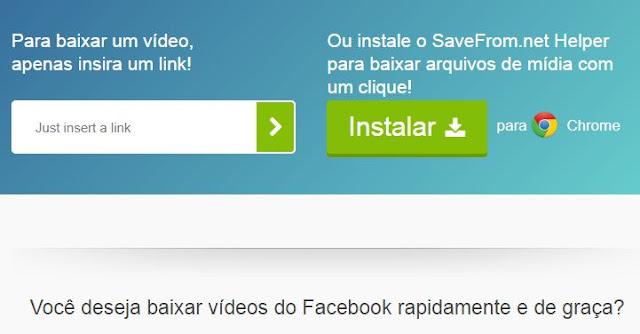 Baixar Vídeo do Facebook pelo Chrome