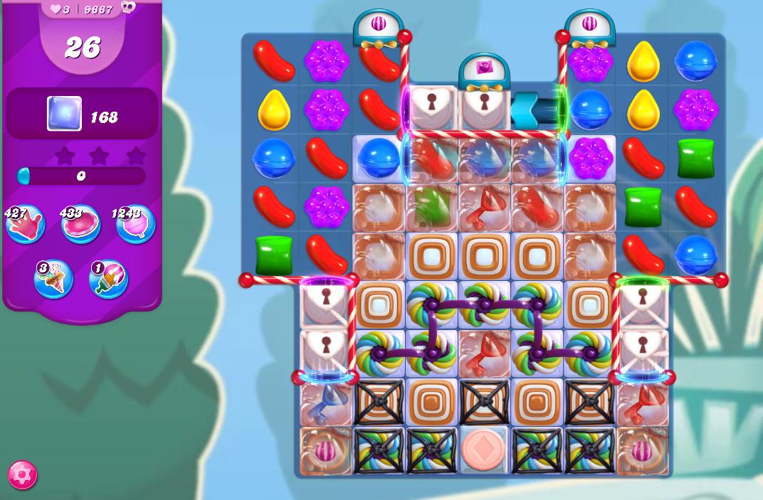 Candy Crush Saga level 9667