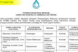 Jawatan Kosong di Lembaga Air Perak (LAP) - 25 Februari 2019