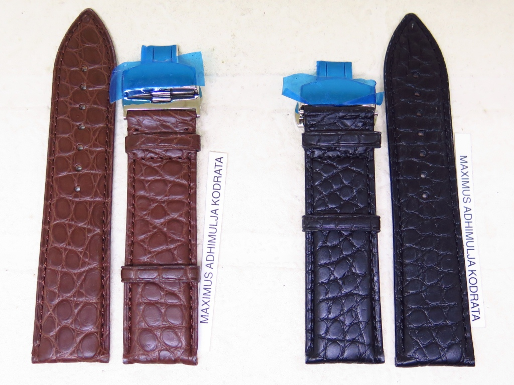 3 - STRAPS GENUINE ALLIGATOR LEATHER STRAP 24MM - CODE CC1/2 - CC2/2
