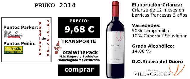 Comprar Pruno 2014 el vino mas barato la tienda