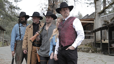 Michael Pare and his posse of bad dudes in ONCE UPON A TIME IN DEADWOOD.