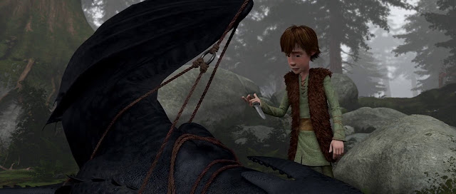 Screen Shot Of Hollywood Movie How to Train Your Dragon (2010) In Hindi English Full Movie Free Download And Watch Online at Movies365.in