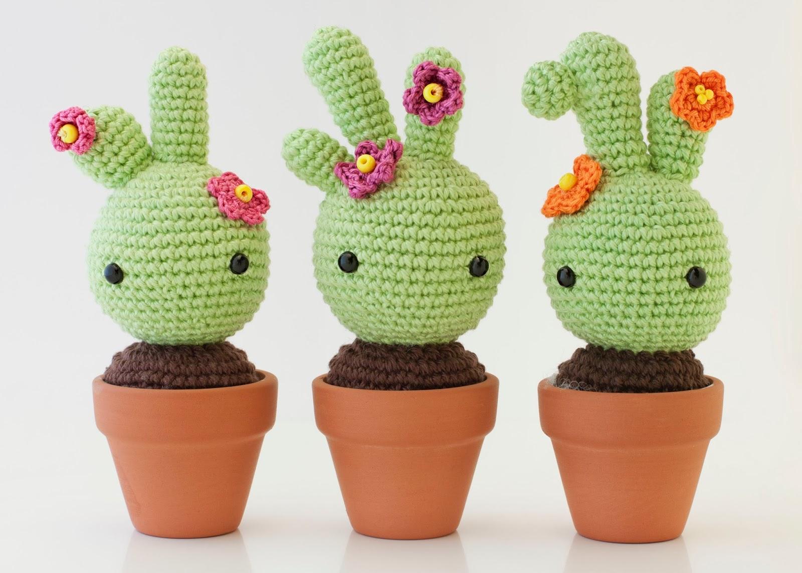 Patron Gratis Crochet: Cactus Neon con Flor Super Facil. En ... | 1143x1600