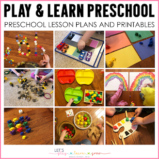 Play and Learn Preschool Curriculum is a 43 themed preschool activities curriculum for toddlers and preschoolers to play and learn!