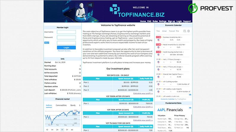Topfinance обзор и отзывы HYIP-проекта