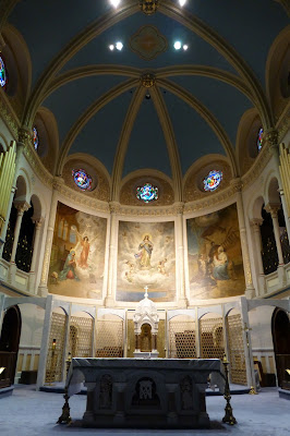Sanctuary ceiling and paintings of the Miraculous Medal Shrine