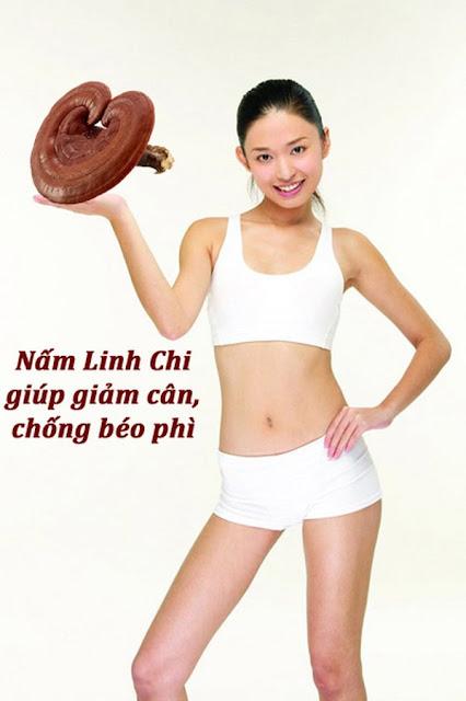 Sử dụng nấm linh chi giảm cân, giữ dáng