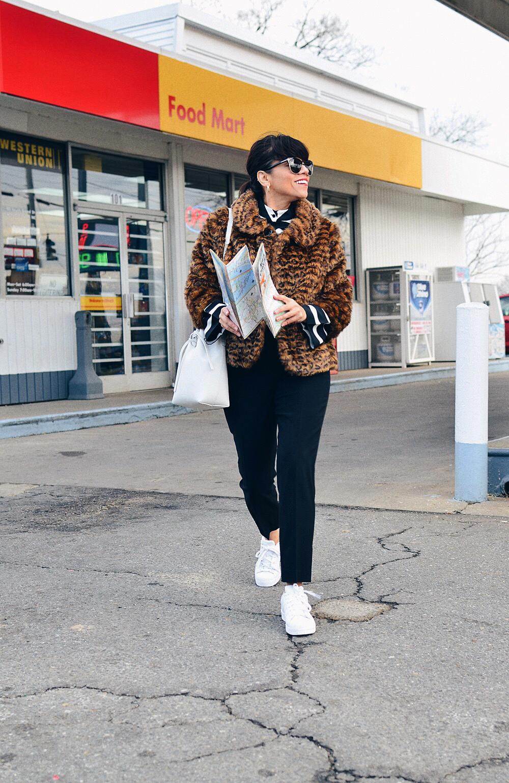 White kicks street style