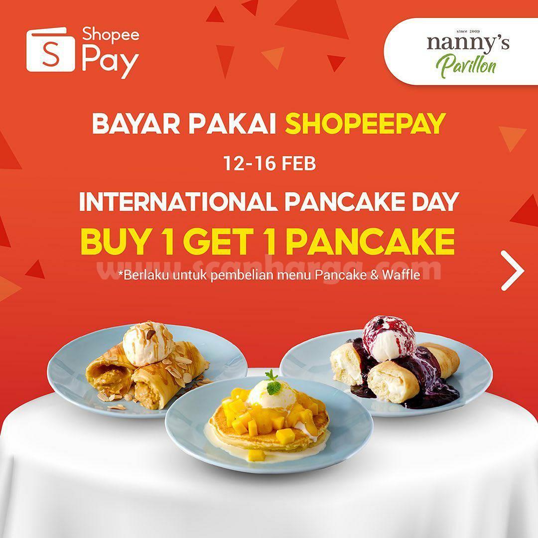 Nanny's Pavillon Promo ShopeePay! Beli 1 GRATIS 1 PANCAKE
