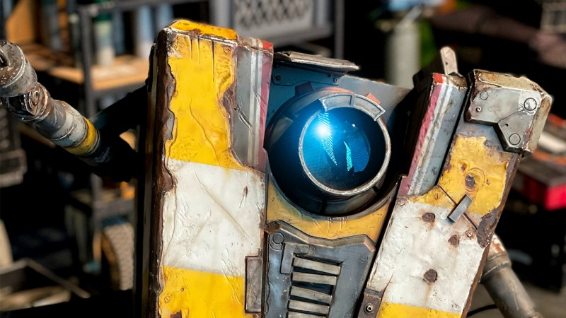 The first image of Claptrap from the Borderlands adaptation
