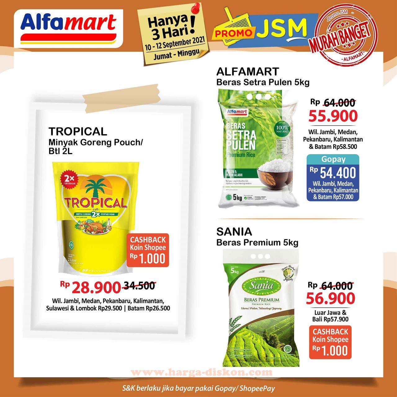 Promo ALFAMART Akhir Pekan Weekend Promo JSM 10 - 12 September 2021