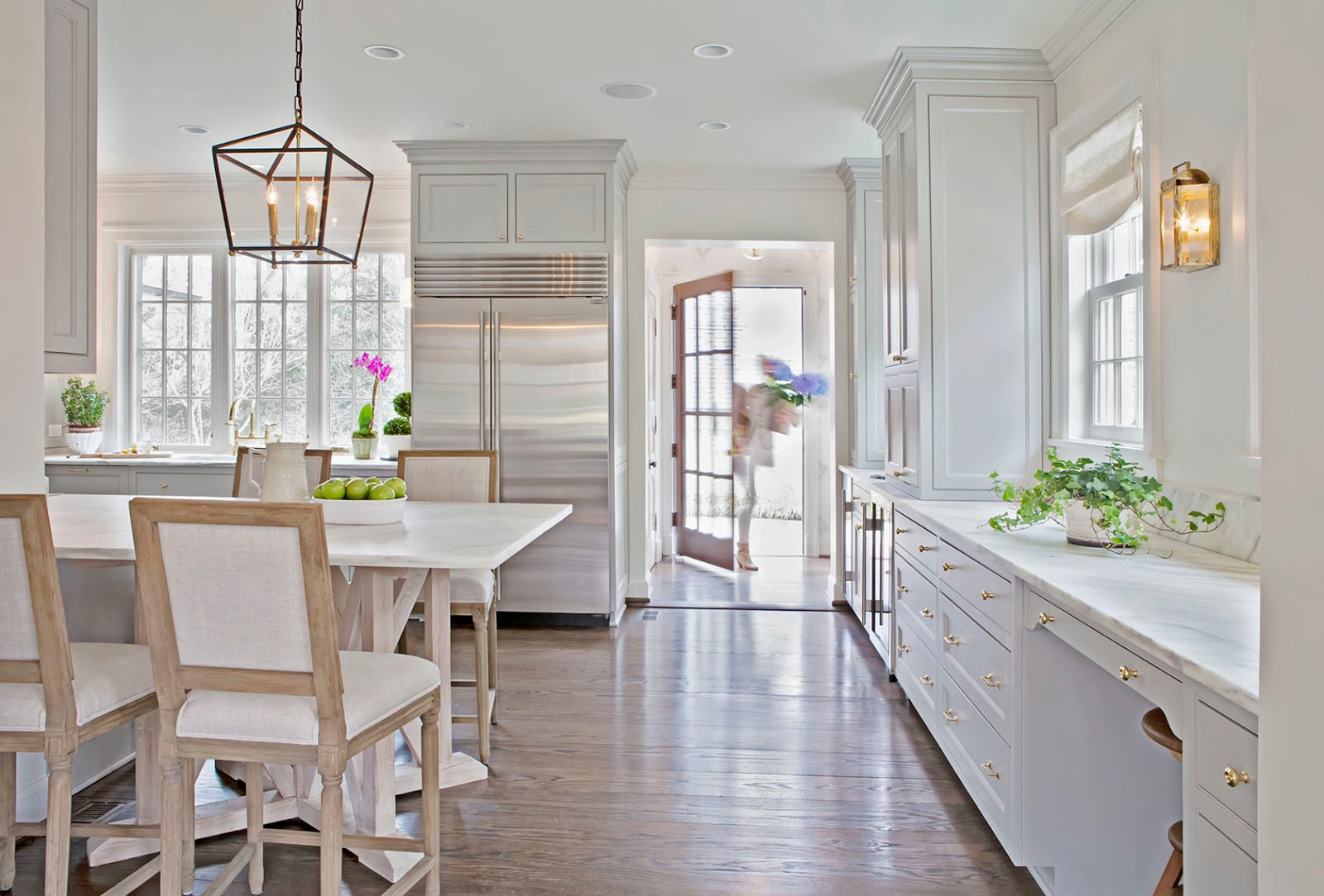 Gorgeous chic white kitchen by Rachel Halvorson - found on Hello Lovely Studio