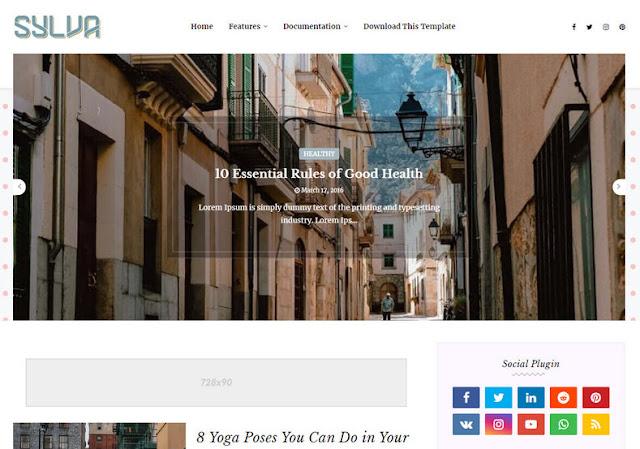 Sylva Blogger Template - free download
