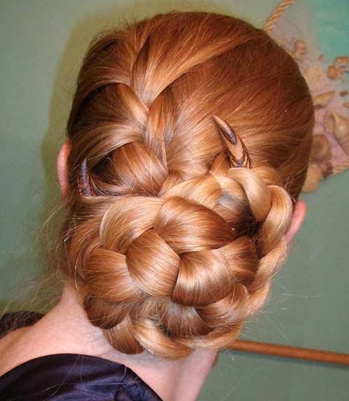 Braided hairstyles 2014 in bun style