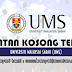 Jawatan Kosong di Universiti Malaysia Sabah (UMS) - 5 April 2021