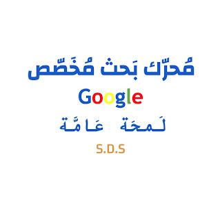 محرك بحث مخصص | Google | لمحة عامة | S.D.S