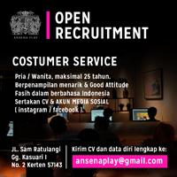 Lowongan Customer Service di Ansena Play - Surakarta 23a959669f