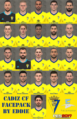PES 2017 Facepack Cadiz FC 2020/2021 by Eddie