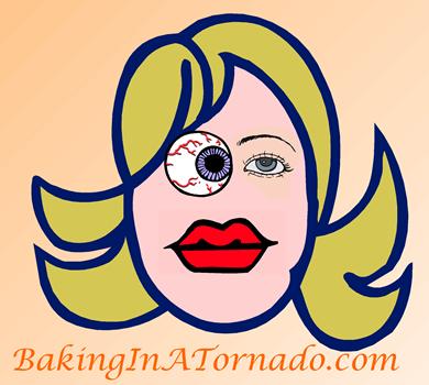 Bloody Eyeball | graphic designed by and property of www.BakingInATornado.com | #MyGraphics