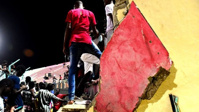 At least 8 dead in wall collapse at Senegal's Demba Diop