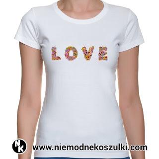 koszulka LOVE walentynki