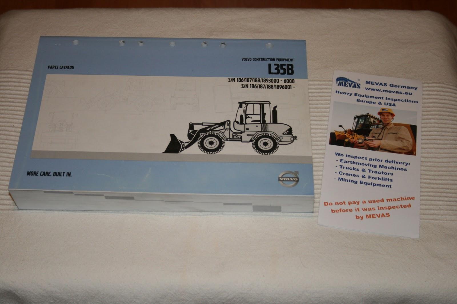 L35B Volvo Wheel Loader parts book for sale | Parts