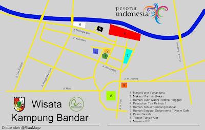 peta wisata kampung bandar pekanbaru