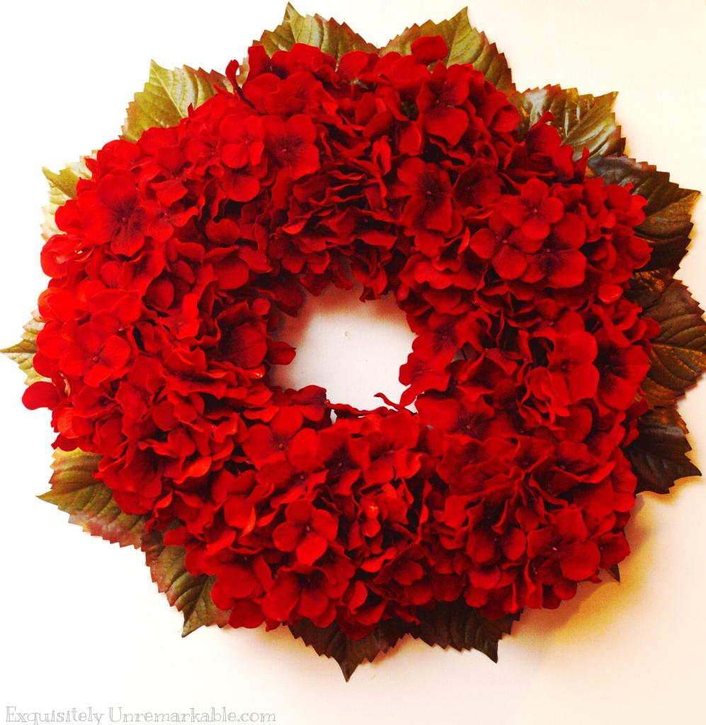 Red hydrangea wreath exquisitely unremarkable Simple christmas wreaths