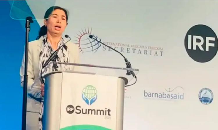 Tursunay Ziyawudun en la cumbre internacional de libertad religiosa / CUyghurs