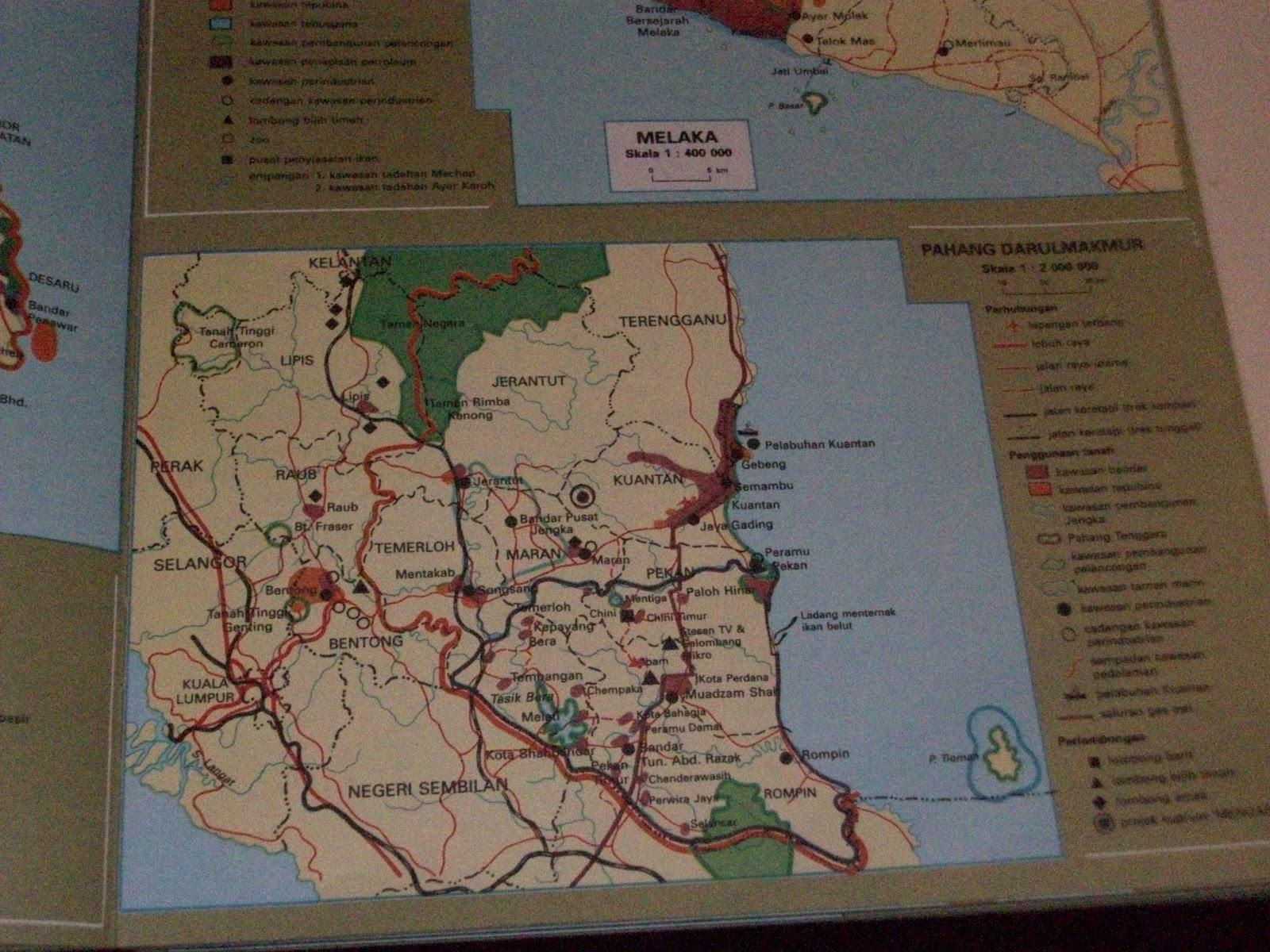 economic map of pahang