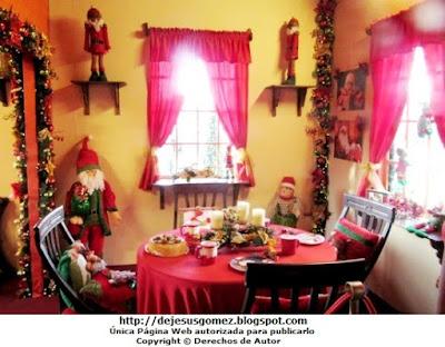 Casa de Papa Noel (Santa Claus), comedor de su Casa en la Villa de Papa Noel. Foto del Comedor de Papa Noel tomada por Jesus Gómez