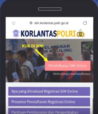 daftar surat izin mengemudi sim online - step 1