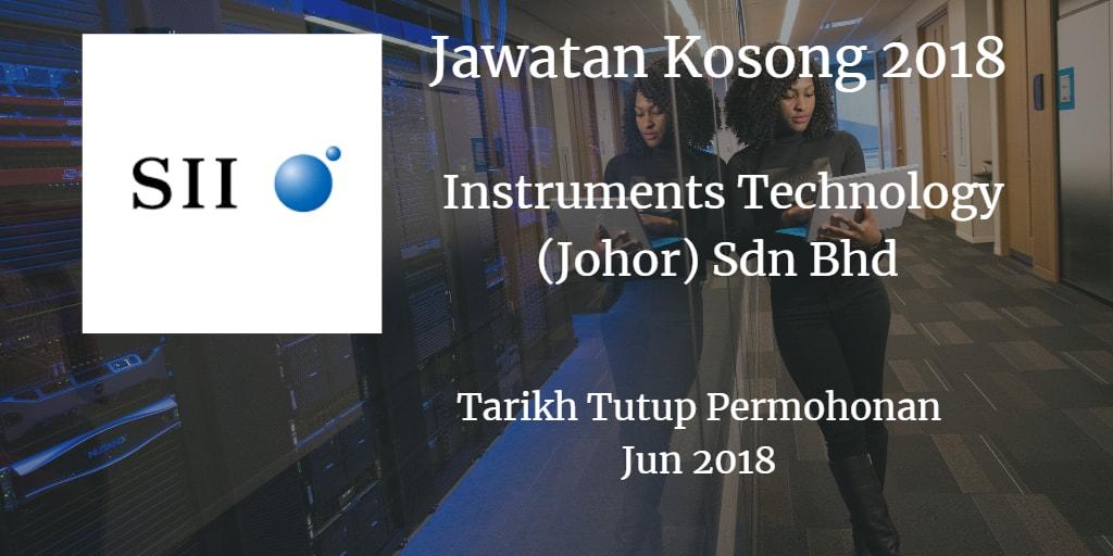 Jawatan Kosong INSTRUMENTS TECHNOLOGY (JOHOR) SDN.BHD Jun 2018