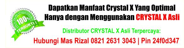 jual Crystal X di Cirebon, Depok, Sukabumi dan Tasikmalaya