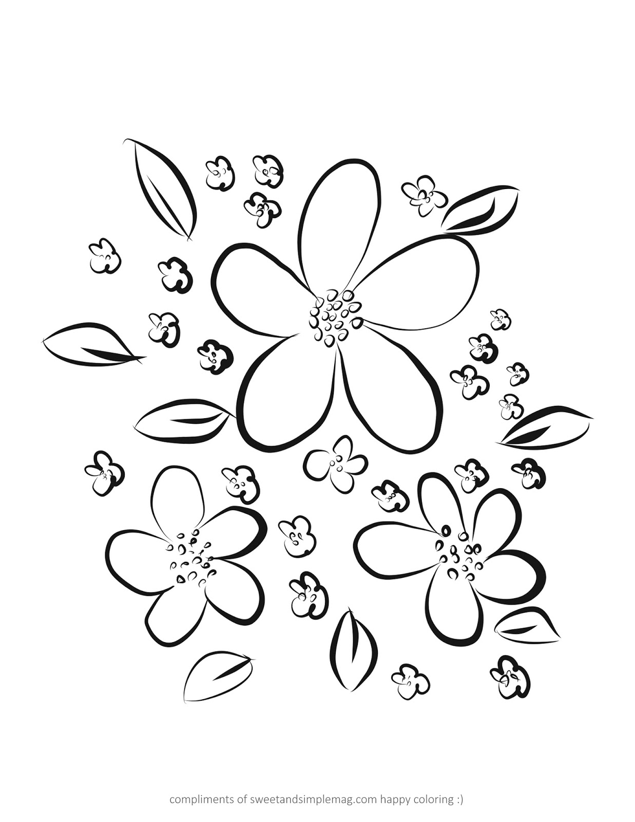 sweet and simple magazine coloring pages
