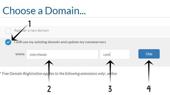 এখন তোমার পালা I will use my existing domain and update my nameservers এ option  Click করুন