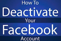 How to Deactivate Temporarily Facebook Account