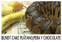 bundt cake platano pera y chocolate