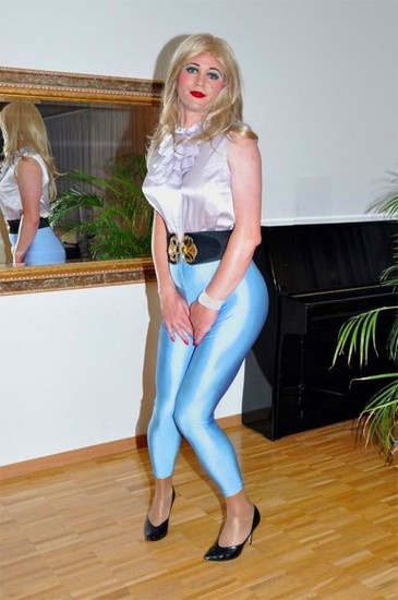 Transgender with blue pants