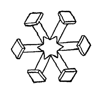 snowflake winter illustration download image