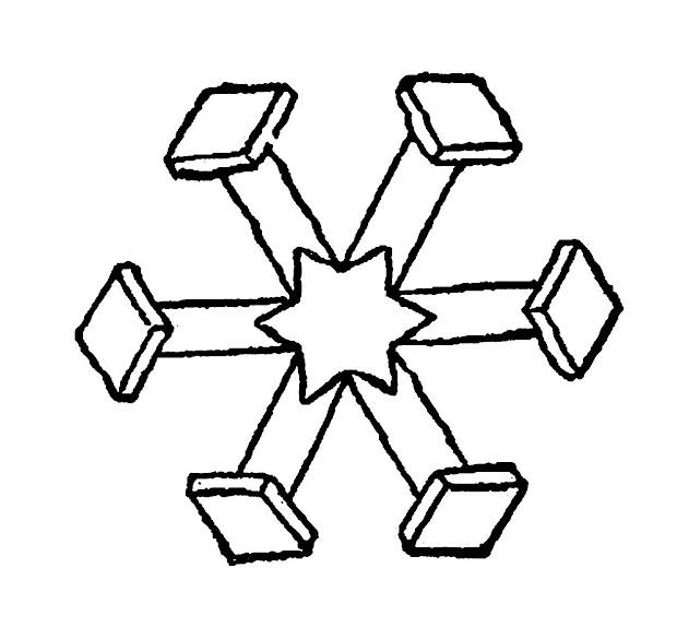 digital stamp design snowflake