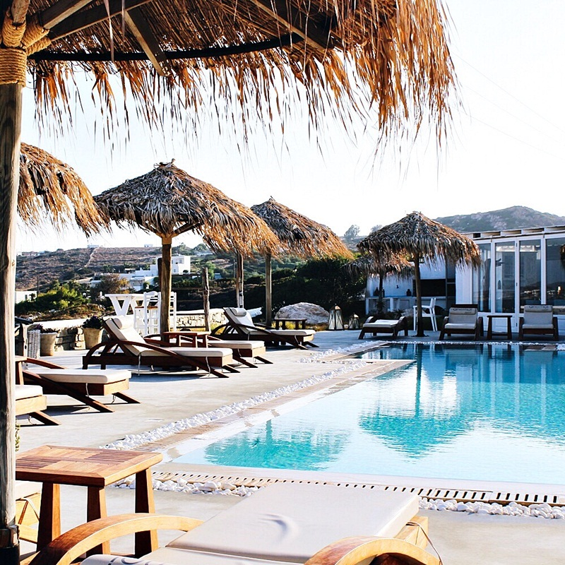 Anemoi Resort hotel pool Paros island