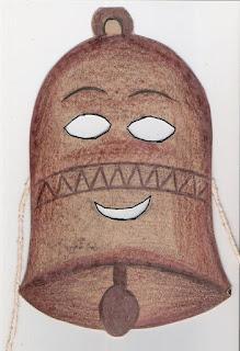 Páscoa máscara de sino