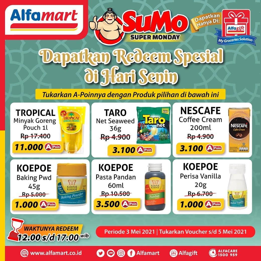 Promo Alfamart SUMO Super Monday (Setiap Senin) Periode 3 Mei 2021!
