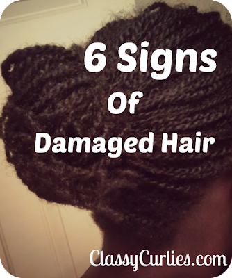 6 signs of damaged hair