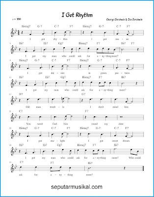 I Got Rhythm chords jazz standar