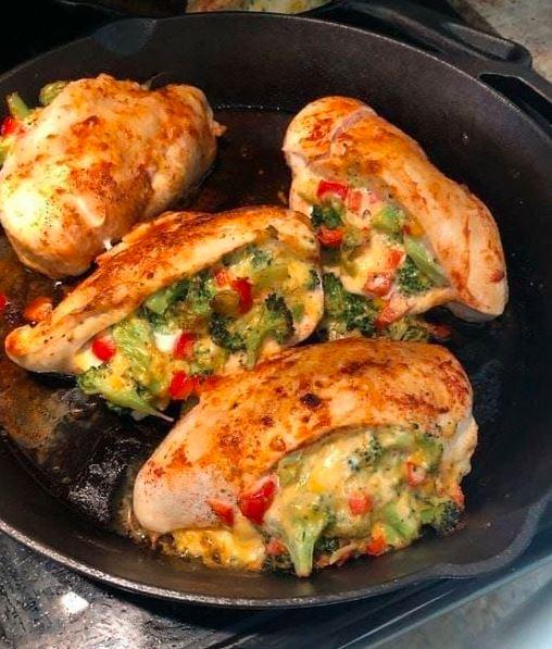 Cheesy Broccoli Stuffed Chicken Breasts