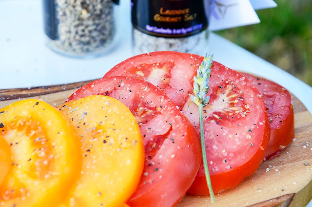 Summer Tomatoes with Organic Gourmet Lavender