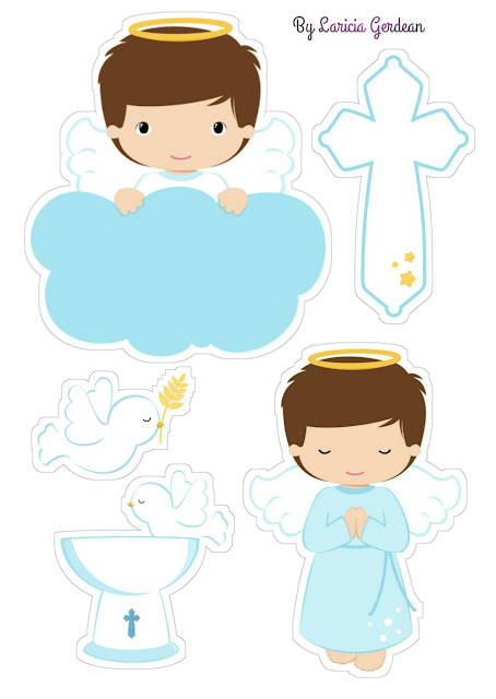 Little Angel Praying: Free Printable Toppers.